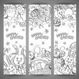 Set of creative multi colour vector banners for Happy Easter Royalty Free Stock Images