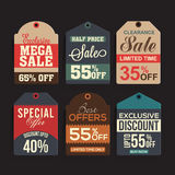 Set of creative Sale Tags design. Royalty Free Stock Photos