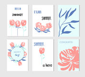 Set of creative Social Media Sale headers or banners with discount offe Stock Photography