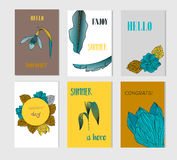 Set of creative Social Media Sale headers or banners with discount offe Royalty Free Stock Image