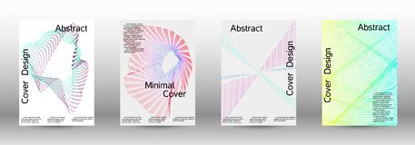 A set of creative sound backgrounds with linear. vector illustration