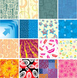 Set of the creative textures. Stock Photos
