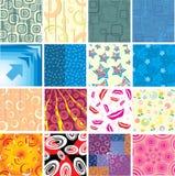 Set of the creative textures. Stock Photos