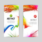Set of Creative Trendy vertical colorful Stripes and ink splashes banners for modern design Royalty Free Stock Photo