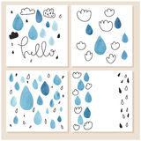 Set of creative universal hand drawn cards. Stock Photos