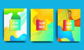 Set of creative universal vector cards. Colorful design for invitation, placard, brochure, poster, banner, flyer. vector illustration
