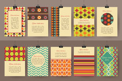 Set of creative vintage cards. Best creative hand Stock Images