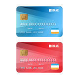 Set of credit card Stock Photo
