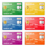 Set of Credit Cards Royalty Free Stock Image