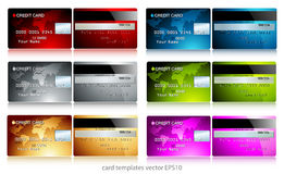 Set of credit cards Royalty Free Stock Images