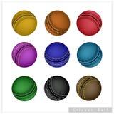 Set of Cricket Ball on White Background Royalty Free Stock Photo
