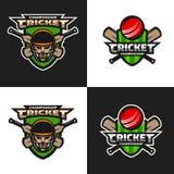 Set of  cricket sports  emblem. Royalty Free Stock Images