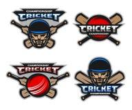 Set of  cricket sports logos, emblem. Stock Image