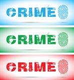 Set of crime fingerprints. A set of crime fingerprint Royalty Free Stock Images