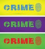 Set of crime fingerprints. A set of crime fingerprint Stock Images