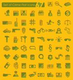 Set of crime icons Royalty Free Stock Image