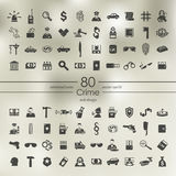 Set of crime icons Stock Images