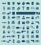 Set of crime icons Stock Image