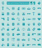 Set of crime icons. Set of crime flat icons for Web and Mobile Applications Stock Photo