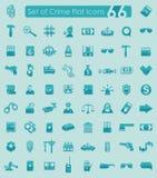 Set of crime icons Stock Photo