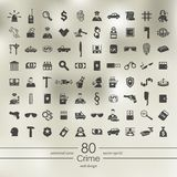 Set of crime icons Stock Photo