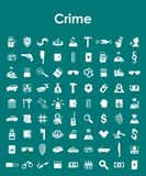 Set of crime simple icons Stock Photo