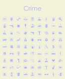 Set of crime simple icons Stock Photos