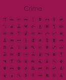 Set of crime simple icons Royalty Free Stock Photo