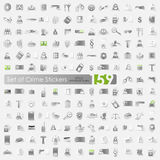 Set of crime stickers Stock Images