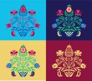 Crimean Tatar pattern  `Tree of Life ` Royalty Free Stock Photo