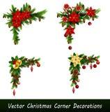 Set of Cristmas corner decorations Stock Photography