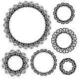 Set of crochet lacy frames. Vector illustration. Big collection Royalty Free Stock Photography
