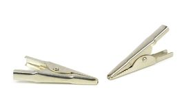 A set of crocodile clips Royalty Free Stock Photo