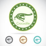 Set of  crocodile label Royalty Free Stock Photos