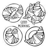 Set croissants ilustracja wektor