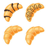 Set of croissants isolated Stock Image