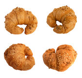Set of croissants isolated on a white background Stock Photography