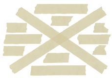 Set of cross adhesive tape. Vector illustration Stock Photography