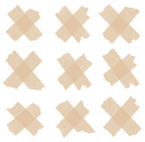 Set of cross adhesive tape. Vector illustration Stock Images