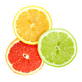 Set of cross a citrus fruits Royalty Free Stock Photography