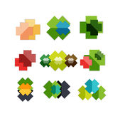 Set of cross geometric shapes - symbols Stock Images