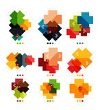 Set of cross geometric shapes - symbols Royalty Free Stock Photos