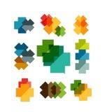 Set of cross geometric shapes - symbols Royalty Free Stock Photo
