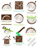 Set a cross section of the trunk with tree rings. Vector. Logo. flat icon. vector illustration