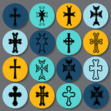 Set of crosses. armenian cross. stock  Royalty Free Stock Image