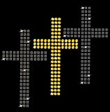 Set of crosses on black background. Royalty Free Stock Photo