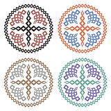 Set of crosses with braided ornament Royalty Free Stock Photography