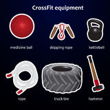 Set of crossfit sport equipment Royalty Free Stock Photography