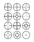 Crosshair. Set of 12 crosshairs. Vector available Stock Image