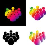 Set crowd of people icon vector Stock Photos